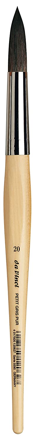 da Vinci Watercolor Series 5590 Petit Gris Mix Paint Brush Size 10 5590-10 Round Russian Blue Squirrel Hair//Synthetic Mix with Lacquered Non-Roll Handle