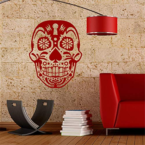 (quleisw Wall Sticker Removable Home Decor Wall Vinyl Decals Skull for Halloween Living Room Bedroom Nursery Kids)