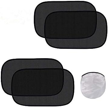 "4 Pack Enovoe Car Window Shade 21/""x14/"" Cling Sunshade for Car Windows"