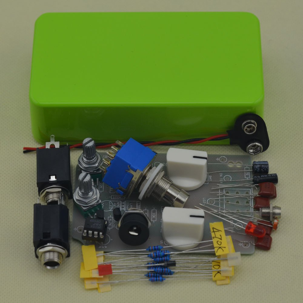 TTONE DIY Comp Pedals Stompbox Electic Guitar Compressor Single Effects Pedal Kit Enclosure Unfinished(NO HOLES)