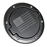Fuel Filler Door Cover Gas Tank Cap 2/4 Door For Jeep Wrangler JK-Black (USA Flag)