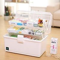 Household Three-layer Medicine Box Medicine Box Multi-layer First-aid Family Storage Box Shallow 34x19x22.5cm medicine…