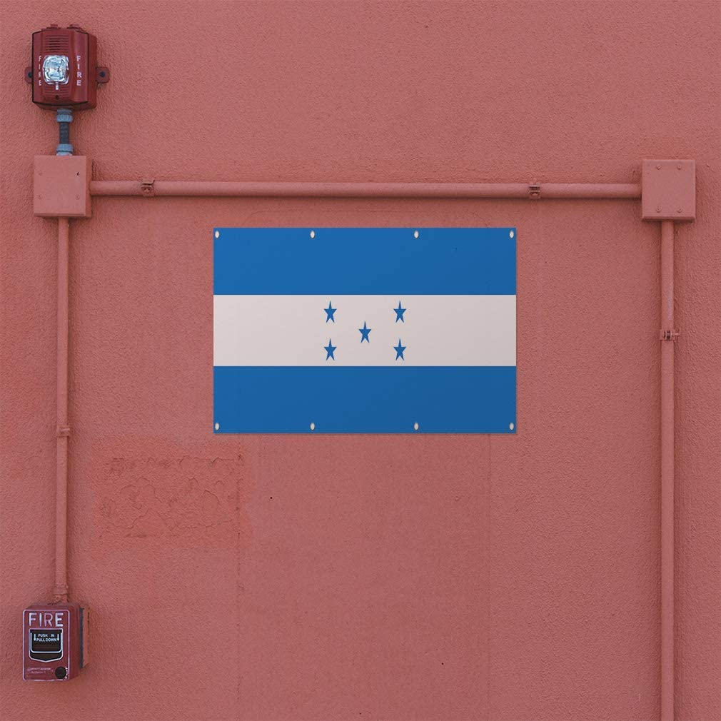 Decal Sticker Multiple Sizes Honduras Flag BlueWhite Countries Honduras Flag Outdoor Store Sign Blue 27inx18in Set of 5