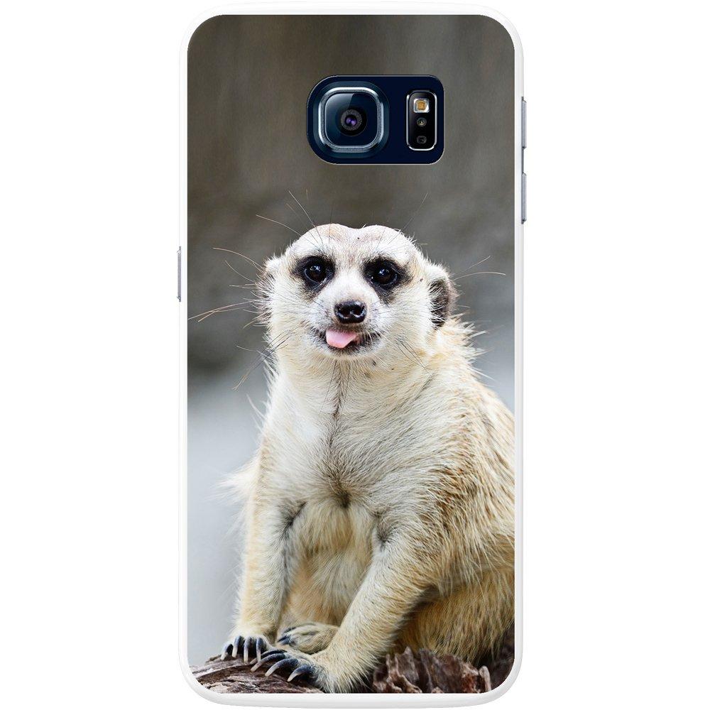 SM-G920 Samsung Galaxy S6 plastique Cute Cheeky Meercat Fancy a Snuggle Coque rigide pour t/él/éphone portable Motif suricate