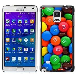 X-ray Impreso colorido protector duro espalda Funda piel de Shell para Samsung Galaxy Note 4 IV / SM-N910F / SM-N910K / SM-N910C / SM-N910W8 / SM-N910U / SM-N910G - Candy Sweet Bright Colorful Blue Red Green