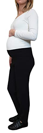 27186f7c136d2 Mimosa Womens Pregnancy and Yoga wear Soft Cotton Rich Maternity Yoga  Loungewear Trousers Black