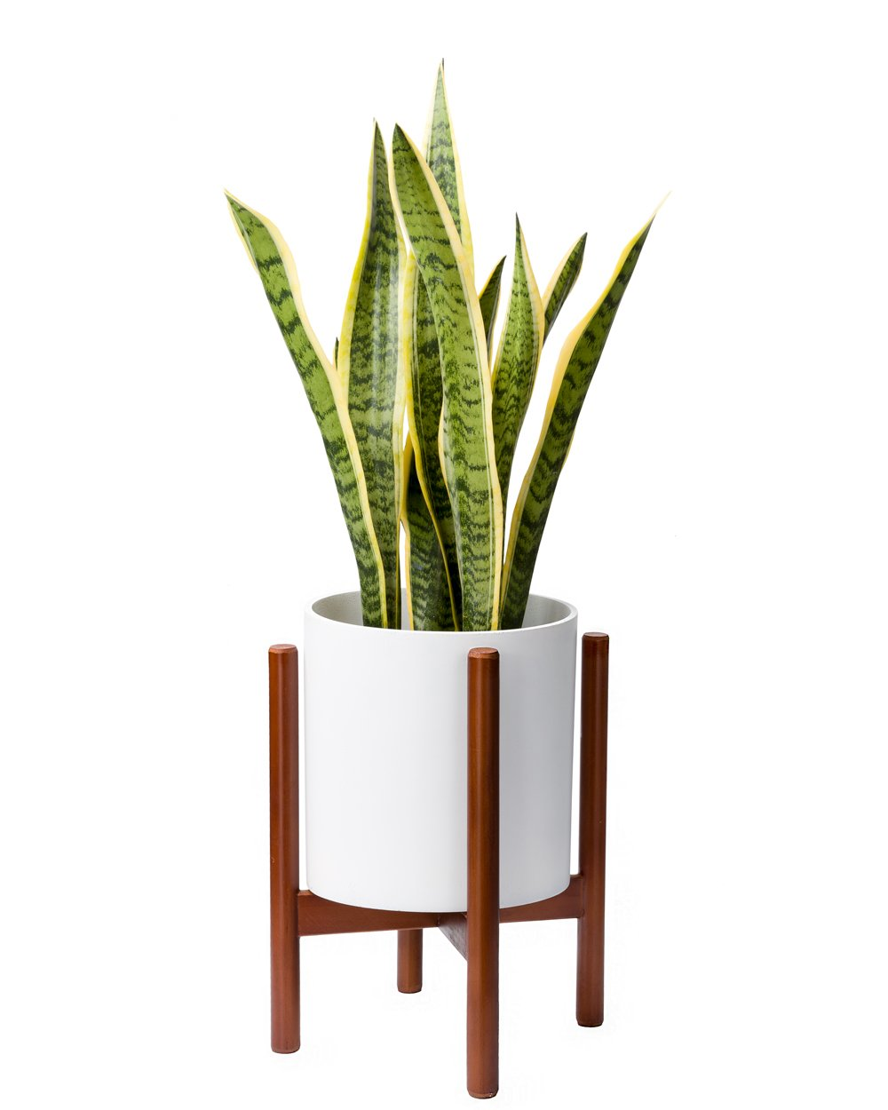 Mkono Plant Stand Mid Century Wood Flower Pot Holder