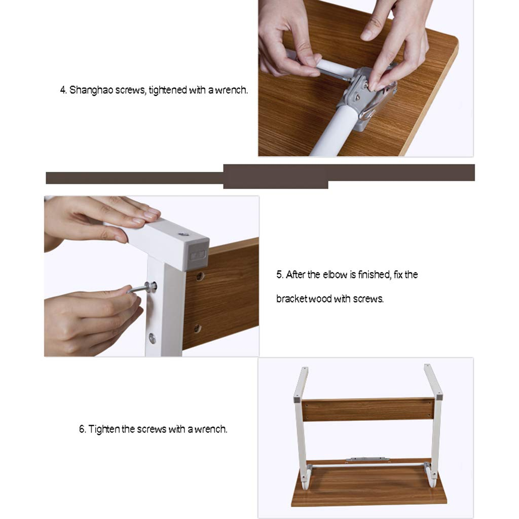 Desk Mobile Computer, Modern Minimalist Folding Table - Home Learning Writing Adjustable Height by Desk (Image #7)
