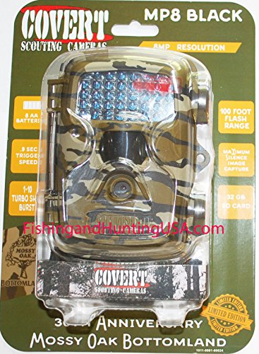 Covert MP8 Black Trail Camera, Mossy Oak Break-Up Country