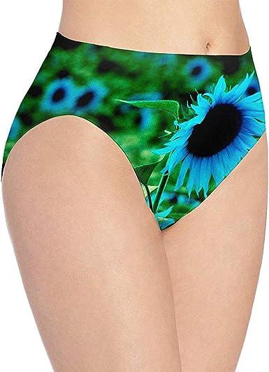 Ropa Interior Ropa Interior Estampada de Girasol Azul Hermosa para Mujer, Braguitas Hipster Lindas, Bragas, Talla L: Amazon.es: Ropa y accesorios