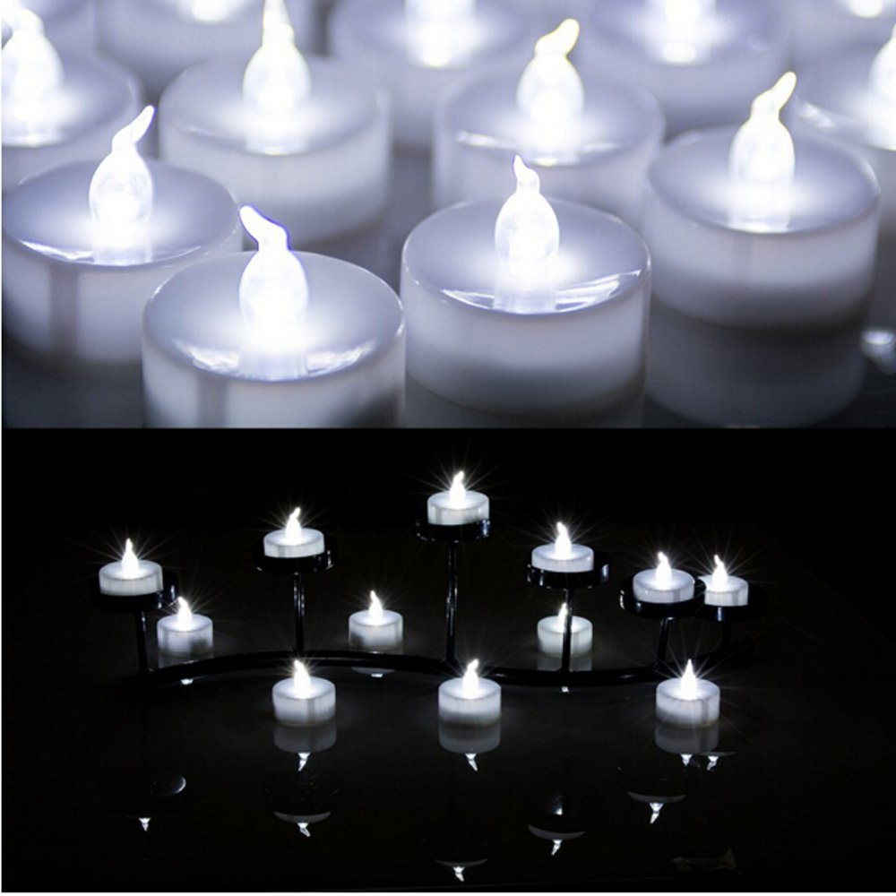 Cool Candle 100pcs Tea Light Wedding Party Flameless Led Candles Cool White