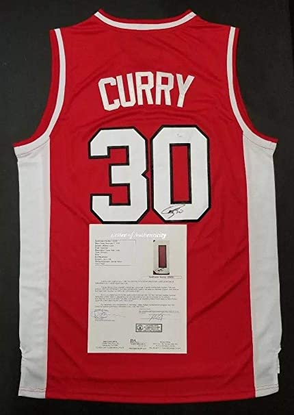 low priced 0cd17 6a02b Signed Stephen Curry Jersey - COLLEGE L. LETTER - JSA ...