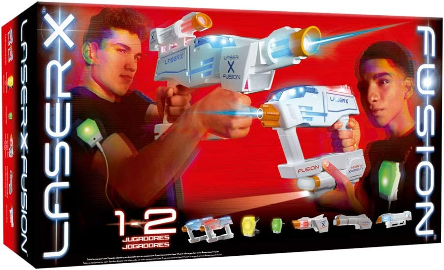 Laser X- Pistola LÁSER Doble LÍNEA ROJA con Accesorios, Multicolor, Talla Única (Cife Spain 41865)
