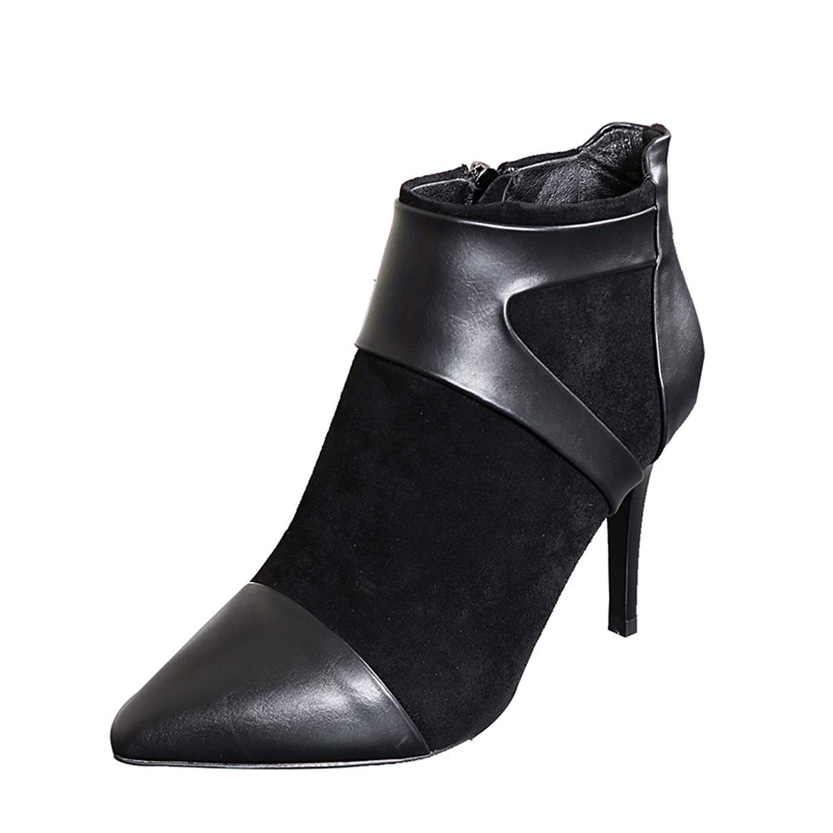 LBTSQ-Das Sagte Stiefel High Heels Reißverschlüsse Sexy Stiefel High Heels 9Cm Martin Stiefel Mode