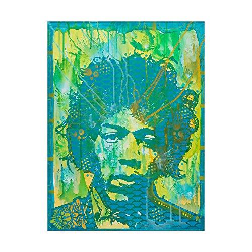 Jimi Hendrix Canvas - Trademark Fine Art Jimi Hendrix V by Dean Russo, 18x24-Inch