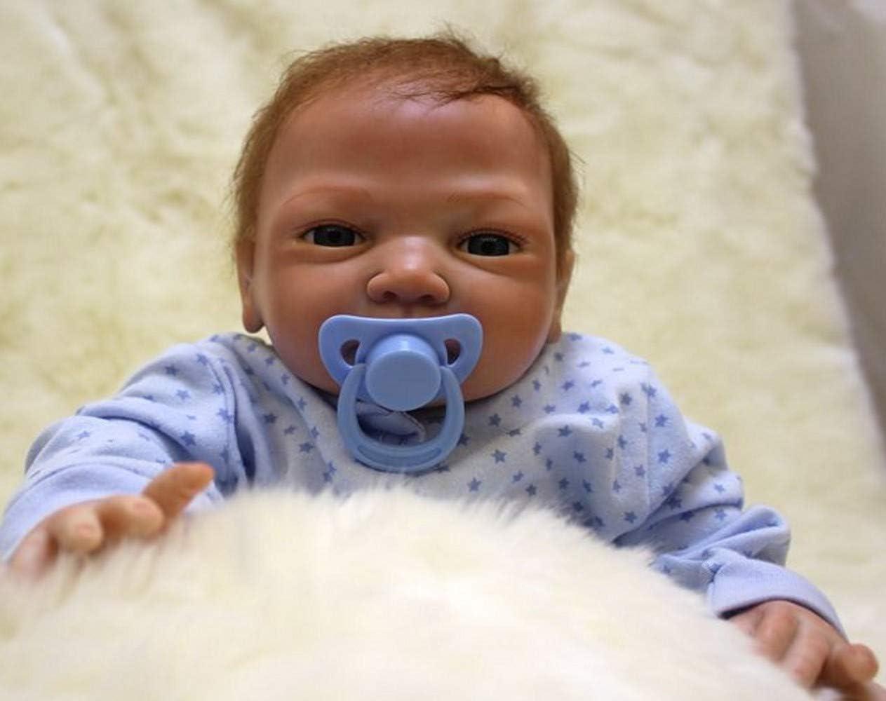 ZIYIUI Bambole Reborn Maschio 18 Pollice 46cm Silicone Morbido Vinile Corpo Pieno Realistico Fatto a Mano Magnetico Economico Giocattoli per Neonati Regali di Festa Reborn Bambola