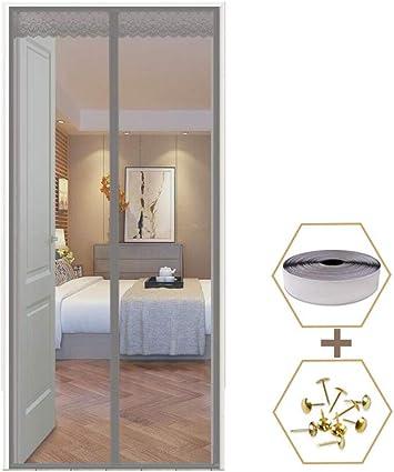 AOHMG Mosquitera magnética, cierre automático con puerta corredera, cortina magnética: Amazon.es: Bricolaje y herramientas