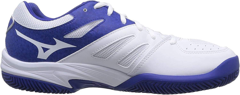 Mizuno Break Shot 2 CC, Zapatillas de Tenis Hombre, Blanco (White/Reflex Blue/Nasturtium 27), 42 EU