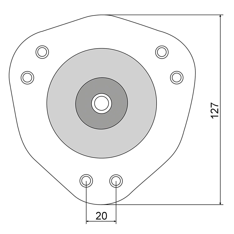 H/öhe 710 mm Anschraubplatten Stahl schwarz matt 4 St/ück inkl Grimme Tischbein /ø 60 mm