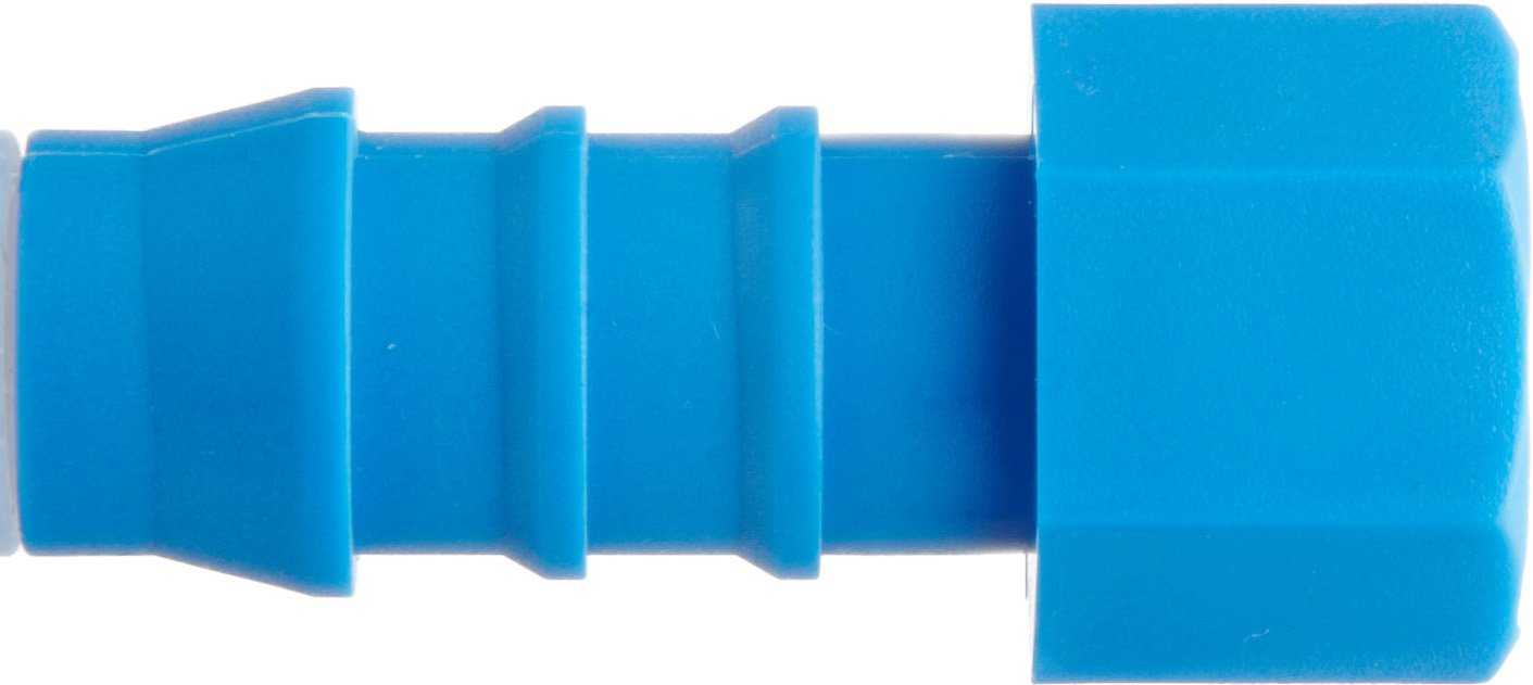 Tefen Nylon 66 Hose Fitting 90 Degree Elbow Blue 5 mm x 4 mm Hose ID Pack of 10