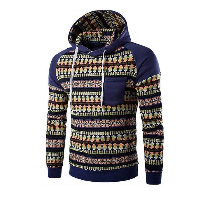 Yvelands Suéter de Camuflaje para Hombre, Sudadera con Capucha de Hombre Suéter de Felpa con