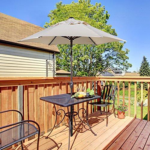 Abba Patio Outdoor Patio Umbrella with Push Button Tilt and Crank, 7-1/2-Feet, Beige