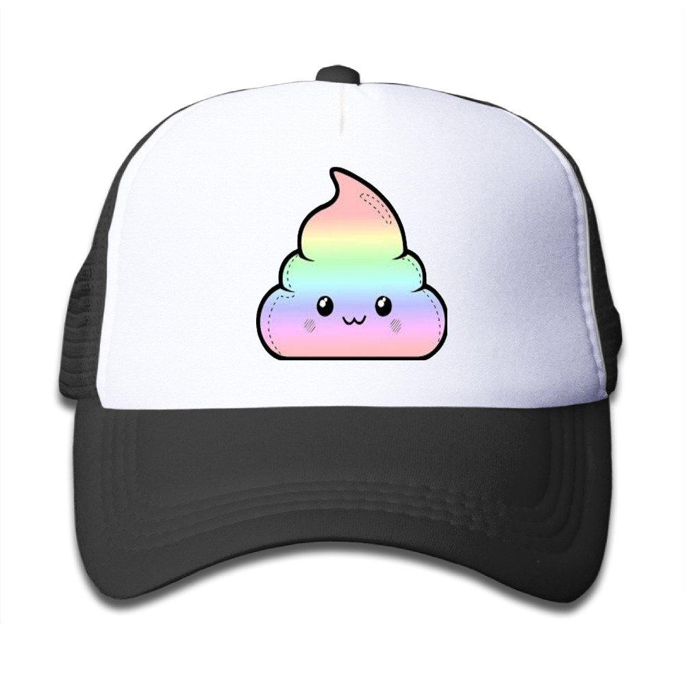 Kids Cute Emoji Poop Trucker Hats,Youth Mesh Caps,snapback Baseball Cap Hat