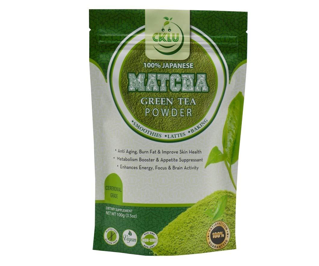 100% Japanese Authentic Matcha Green Tea Powder - Premium Ceremonial Grade - Natural Superfood, Many Health Benefits - 100g (3.5 oz)