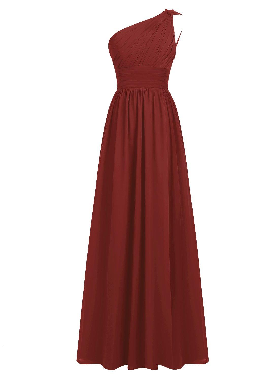 7d6e3c429e02e Dressystar レディーズドレス ロング丈 気品高い シフォンドレス ワンショルダー 演奏会ドレス お呼ばれドレス