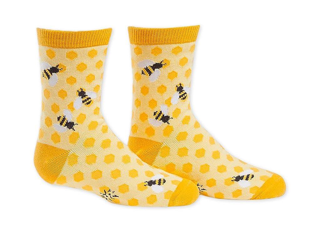 Sock It To Me Junior & Youth Girl's Bees Knees Crew Socks jc0018 / yc0018