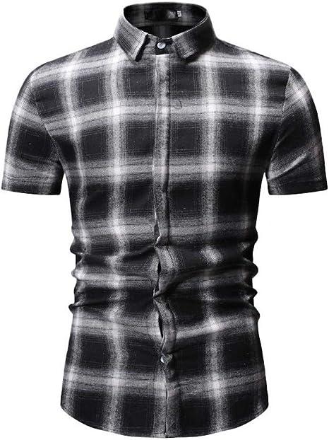 CHENS Camisa/Casual/Unisex/XL Hombres Hombres Camisa a Cuadros Camisa Hombres Coreano Diseño Delgado Formal Casual Camisa de Vestir Masculina Manga Larga y Manga Corta: Amazon.es: Deportes y aire libre