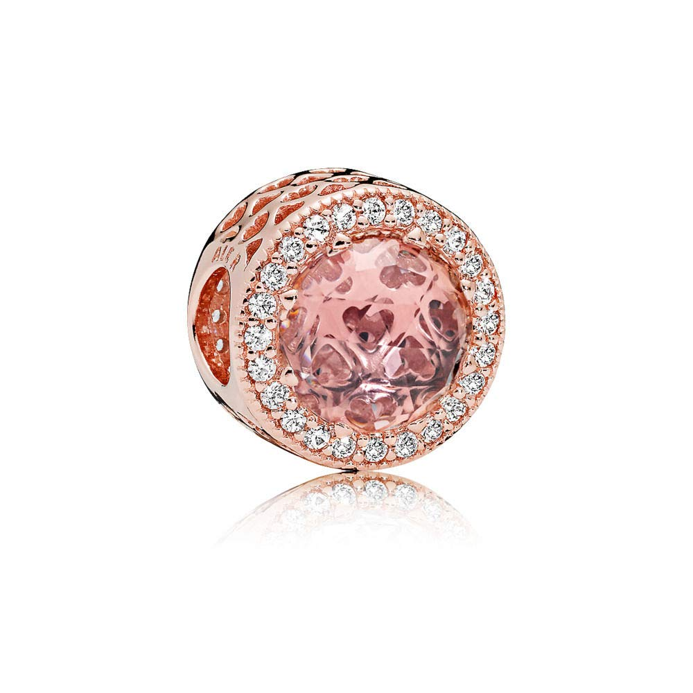 PANDORA Charm in PANDORA Rose with Blush Pink Crystals and Clear Cubic Zirconia - 781725NBP