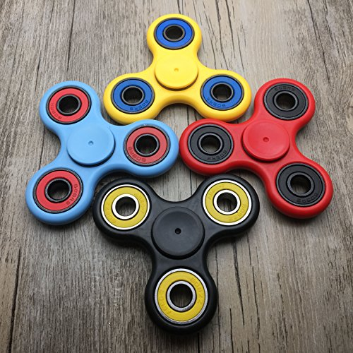 Guarantee 2 Mins+ Spin Time Quiet and Smooth Fidget Spinner Toy Stress Reducer Good for ADHD EDC Hand Killing Time (YELLOW) - 5