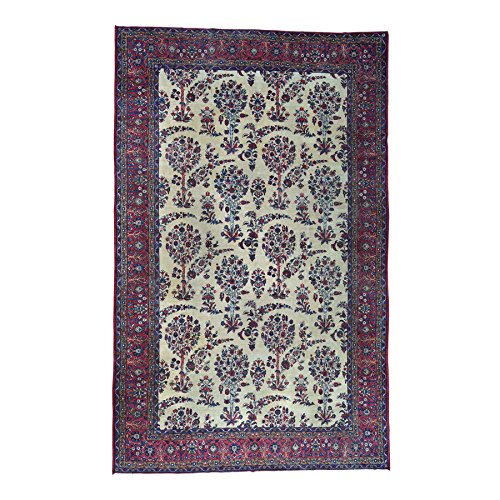 Antique Persian Kerman Rug (Handmade Gallery Size Antique Persian Kerman Even Wear Rug (9'9