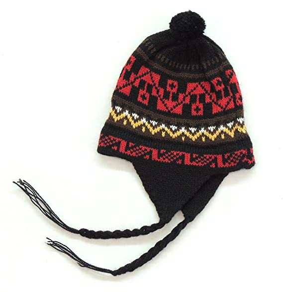dcbca9b742f Amazon.com  Earflap Peruvian Hat (Chullo)  Clothing