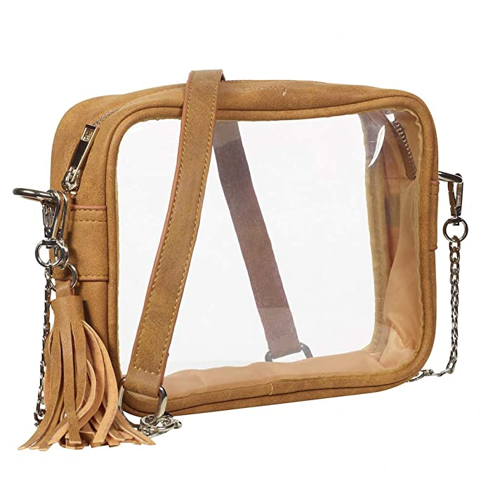 Clarity Handbags Stella Clear Womens Bag for Professional & College Sporting Events Clear Bag Stadium Policy Approved