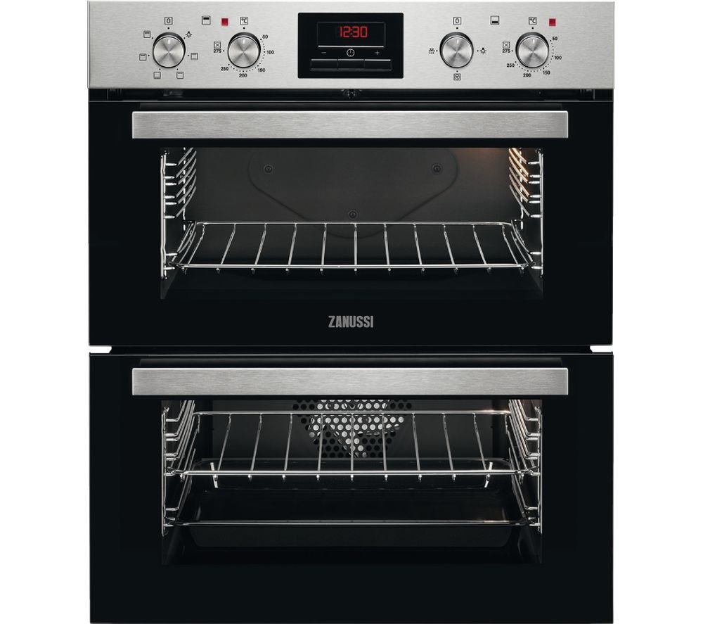 Zanussi ZOF35611XE Built Under Double Electric Oven Stainless Steel