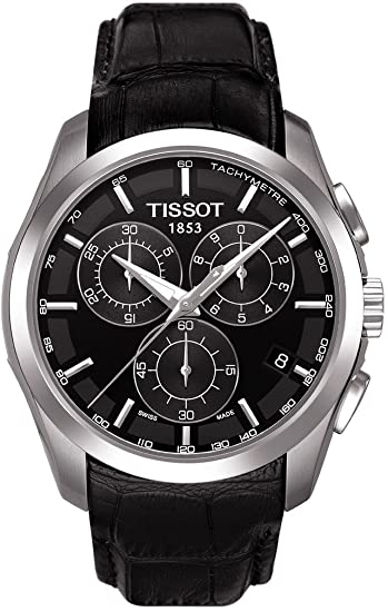 Tissot T0356171605100 - Reloj analógico de caballero de cuarzo con correa de piel negra: Tissot: Amazon.es: Relojes