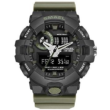 SW Watches SMAEL Relojes LED para Hombres Sport Quarz Reloj Digital Reloj De Pulsera De Cuarzo para Hombre.: Amazon.es: Deportes y aire libre