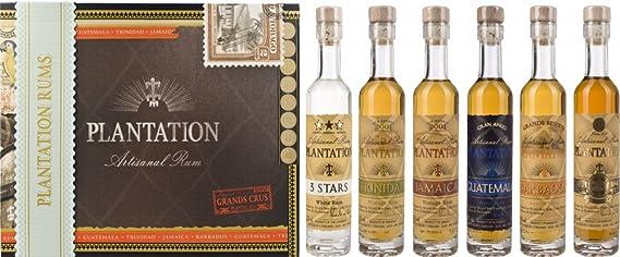 Plantation Rum in Cigar Box - Pack de 6 x 0.1 l