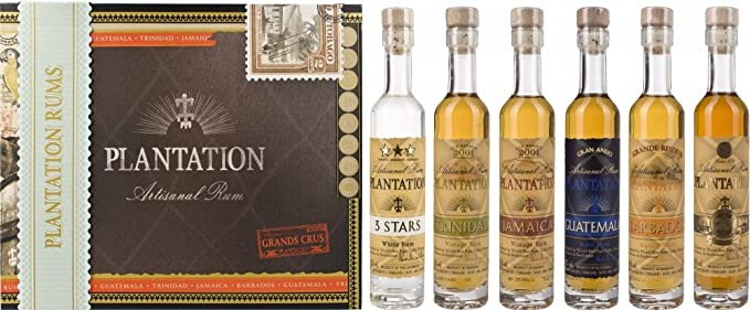 Plantation Rum in Cigar Box - Pack de 6 x 0.1 l