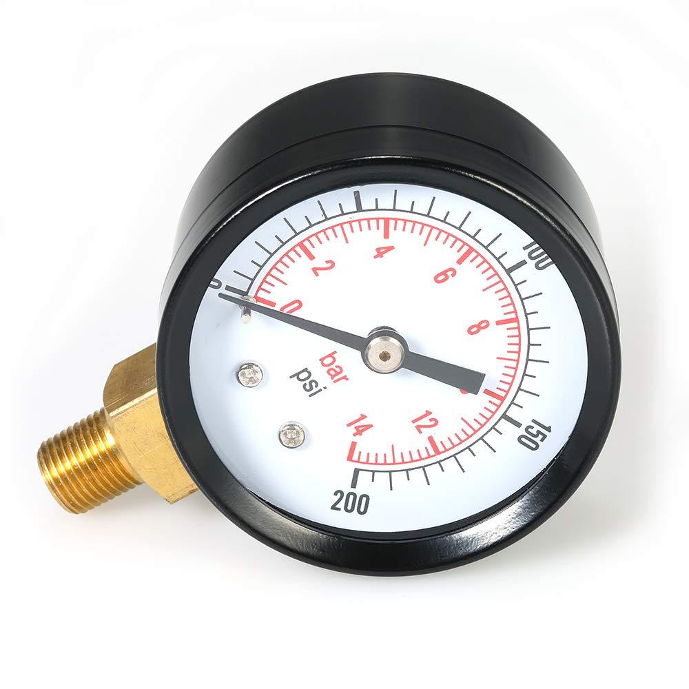 40mm Diameter 0-30PSI 2BAR Pool Filter Water Dial Hydraulic Pressure Gauge Meter