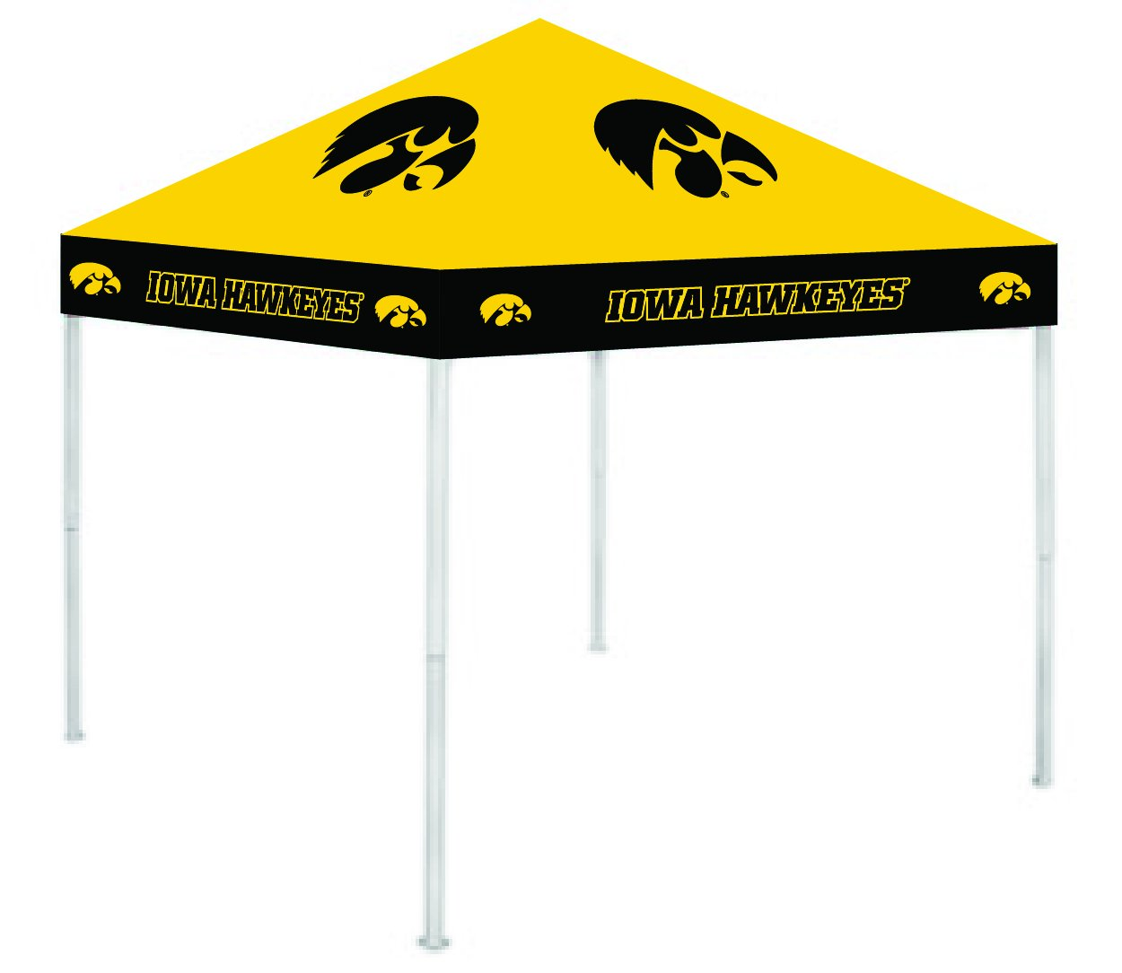 Rivalry RV229-5000 Iowa 9' x 9' Ultimate Tailgate Pop-Up Gazebo Canopy Tent B003HLOSS4 9 x 9|アイオワホークアイズ アイオワホークアイズ 9 x 9