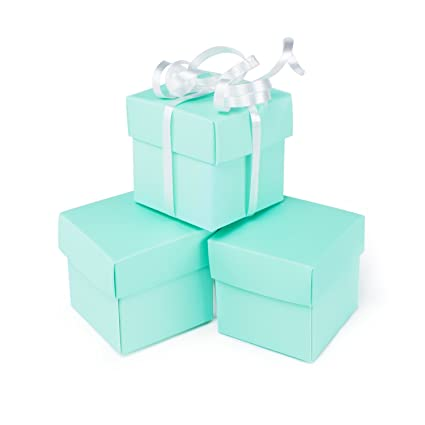 Mini Small Square Cube Robin S Egg Blue Gift Boxes With Lids For Party Favors Decoration Weddings Birthdays And More 2 X 2 X 2 In Size 10