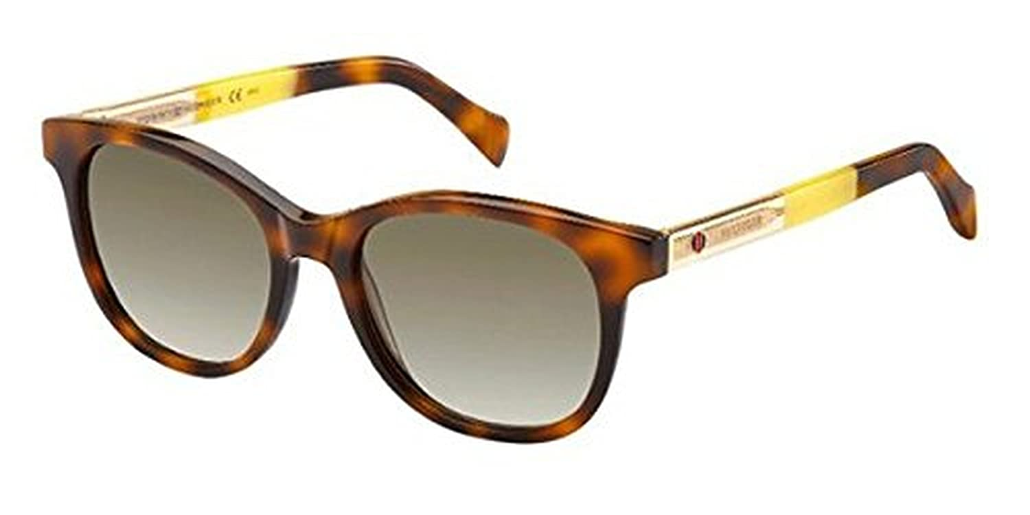 229d40eaa7 Tommy Hilfiger 1310 S Sunglasses Havana Beige Yellow   Brown Gradient    Cleaning Kit Bundle  Amazon.co.uk  Clothing