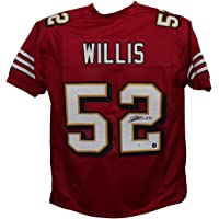 $139 » Patrick Willis Autographed/Signed Pro Style 3 Layer Red XL Jersey BAS