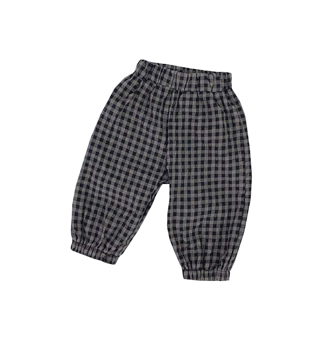 Bigbarry Girl  Jogger Elastic Waist BoysPlaid Pants