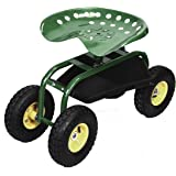 Giantex Rolling Tray Gardening Planting with Work Seat Garden Cart Green