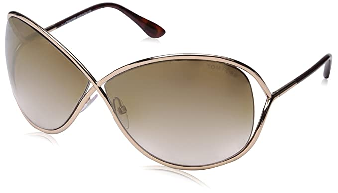 92a7fee6624dfe Lunettes de soleil Tom Ford Miranda FT0130 C68 28G (shiny rose gold   brown  mirror