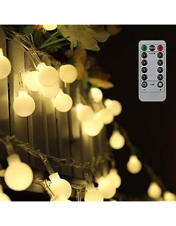 Tomshine Guirnalda Luces 10 m 80LEDs Blanco Cálido con Control Remoto para Jardines Fiesta de Navidad